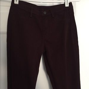Dark Wine Skinny Pants