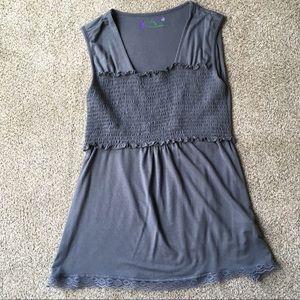 Jersey knit grey-blue nursing top