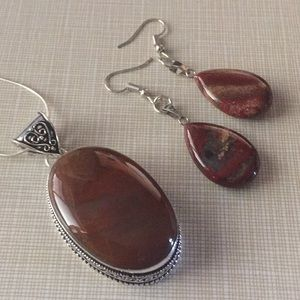 Jewelry - Gorgeous red Jasper gemstone set