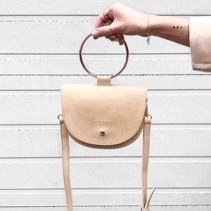 🆕Felix Gold Metallic O Ring Mini Crossbody Bag