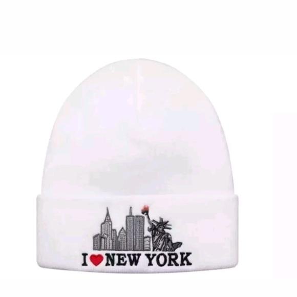 69db66f9d7e83 New Supreme I Love New York White Beanie Authentic