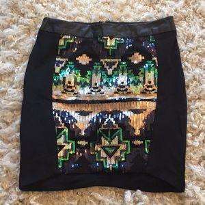 Sequined tribal skirt