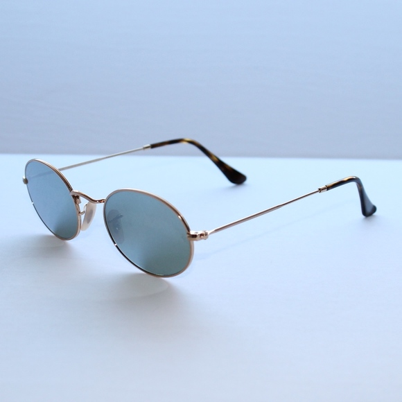 1d34255bd Ray-Ban Accessories | Ray Ban Oval Flat Lenses Silver Flash Lenses ...