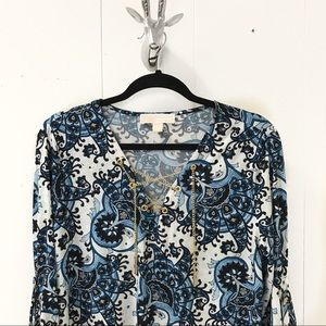 Michael Kors Chain Lace-Up Tunic