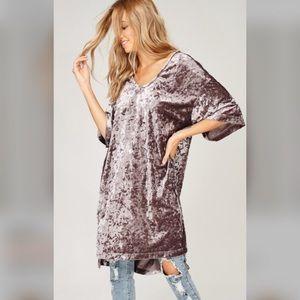 Last one velvet loose fit tunic dress M NWT