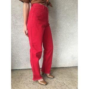 [holiday sale] [vintage] red Rockies mom jeans