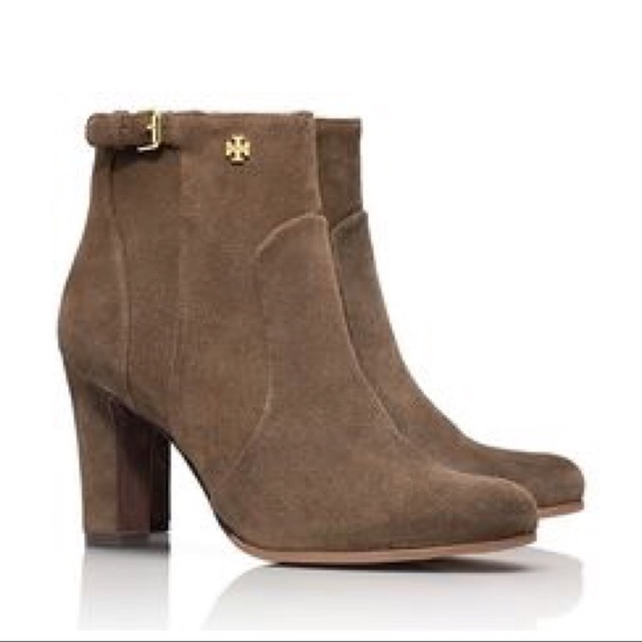 49eb290d8af NEW Tory Burch Milan Suede Ankle Heeled Boots