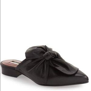 Topshop Unique 'PISTACHIO' leather Bow Mules.