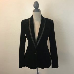7 for all mankind Velvet Black Blazer W Leather