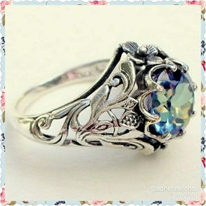 Jewelry - Mystic topaz silver ring size 6