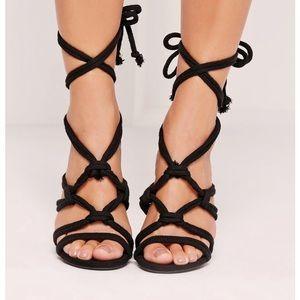 New Black Microsuede Heels