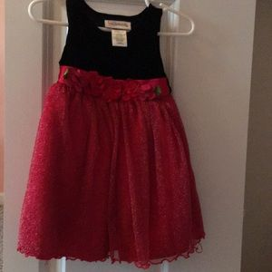 Black and red sparkly Christmas dress