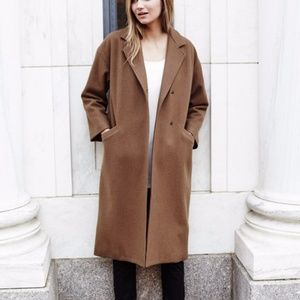 NWT Emerson Fry Drop Shoulder Coat in Camel