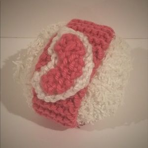 Other - Infant Hand Knit Heart Headband