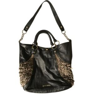 Betsy Johnson Frilled Out Black/Multi Tote Bag