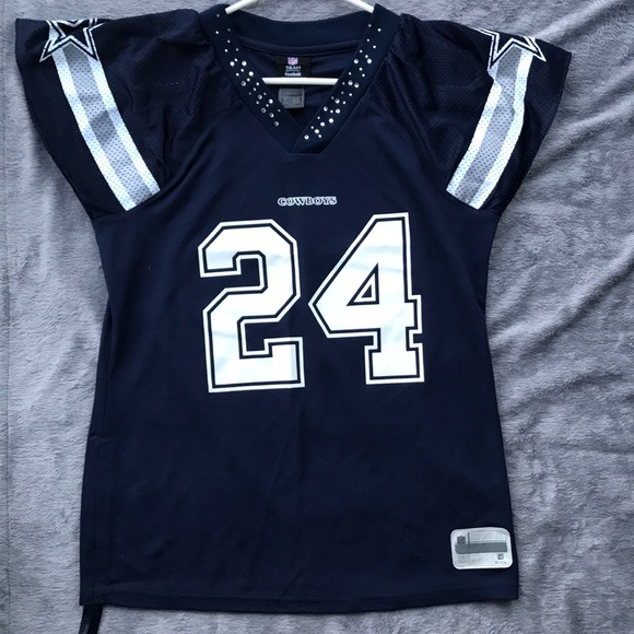 newest 02e6e 7d034 Reebok Rhinestone Dallas Cowboys Jersey #24 Barber