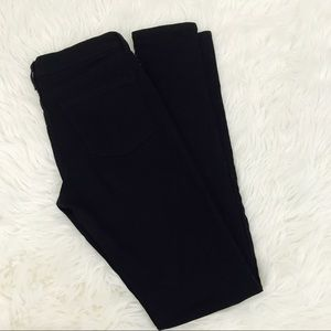 Uniqlo Black Skinny Jeans 27x33 Mid Rise Stretch