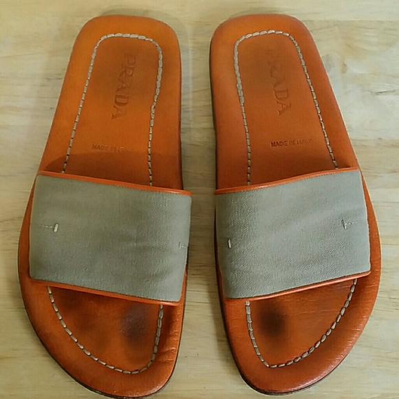 a2b6742d7418 Prada leather sandals. M 5a1c8b506a5830a63e0db6a4