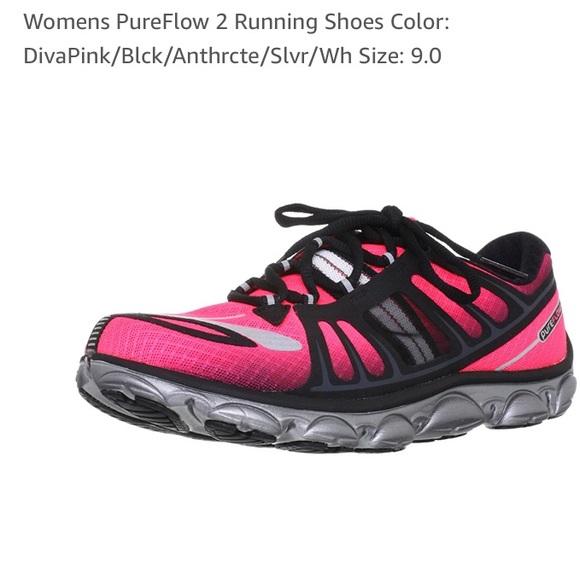 44c02c617ac Brooks Shoes - Brooks Pureflow 2 Running Shoes Pink Black Sz 9