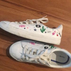 Zara white tennis shoes