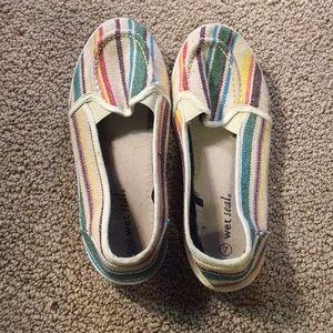 striped flats