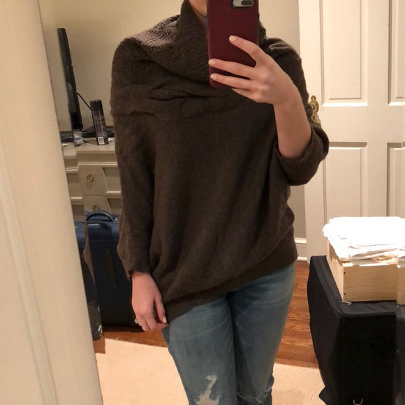 82% off Vince Sweaters - Gorgeous oversized Vince chocolate brown ...