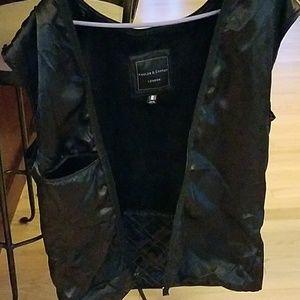 9f21a0671 Black Lambskin Leather Jacket with Fox Fur Hood