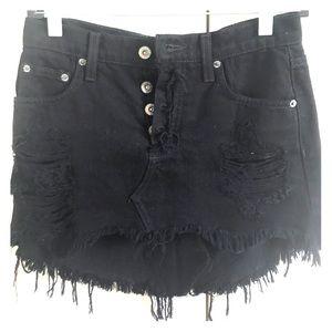 CARMAR black denim skirt