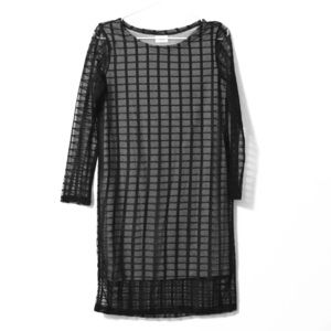 Dresses & Skirts - Grid Tulle L/S Shift Dress