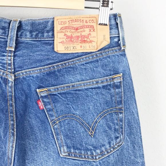13bde0f3 Levi's Jeans | Vtg 90s Levis 501 Xx Denim Blue | Poshmark