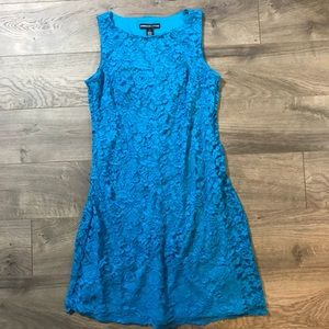 American Living Turquoise Lace Sheath Dress