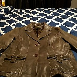 Leather jacket size 1X worn once