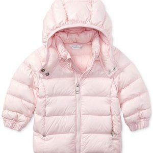 RALPH LAUREN baby pink puffer jacket