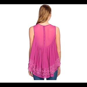 1b1c5a419de indigo thread co. Tops - Crochet and mesh babydoll blouse. Boho.