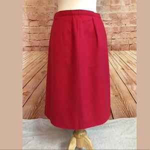 Vintage Pendleton Pure Virgin Wool Pencil Skirt