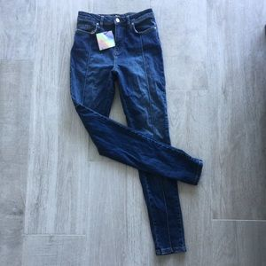 misguided star jeans (star on back)