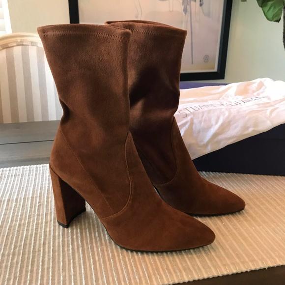 cf8661ba4 Stuart Weitzman Clinger Boots in Saddle Suede