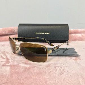 NWT Burberry Polarized Aviator Sunglasses - Mens