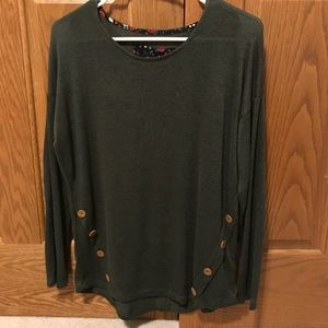 army green scoop neck