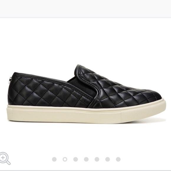 Madden Girl Black Slipon Sneakers
