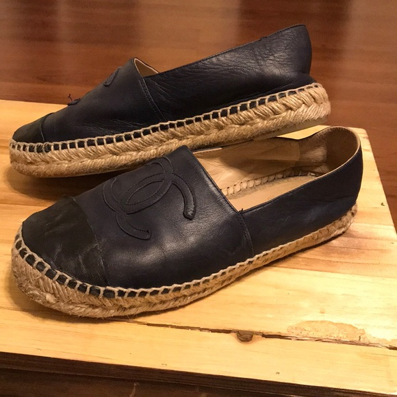 ed487339e9 CHANEL Shoes - Chanel navy leather shoes