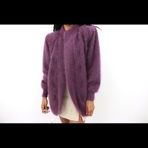 Purple Daze Vintage Angora Jacket
