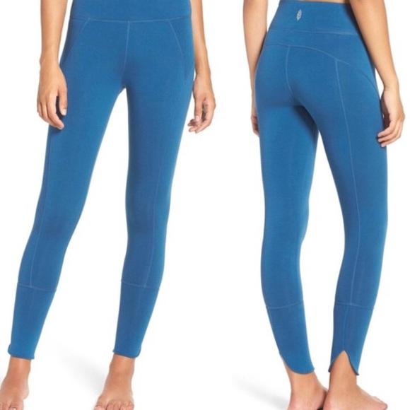 cc6eb768959986 Free People Pants | Movement Virgo Legging Cropped Blue | Poshmark