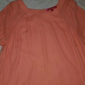 Catherine coral colored blouse..