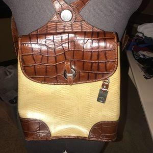 Vintage Dooney & Burke Leather Backpack Purse