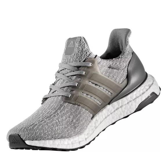 Adidas Ultra Boost Ultraboost 3.0 Grey 7.5 8 Women NWT