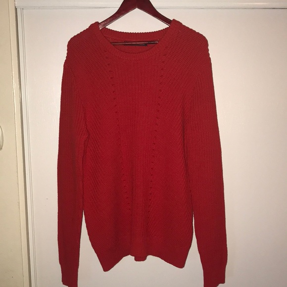 a95b430b Zara Sweaters | Men Red Sweater | Poshmark