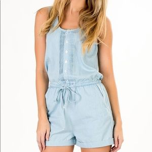 YMI Jeans Pleated Chambray Romper☄️