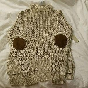 RD style knit mock turtleneck, M