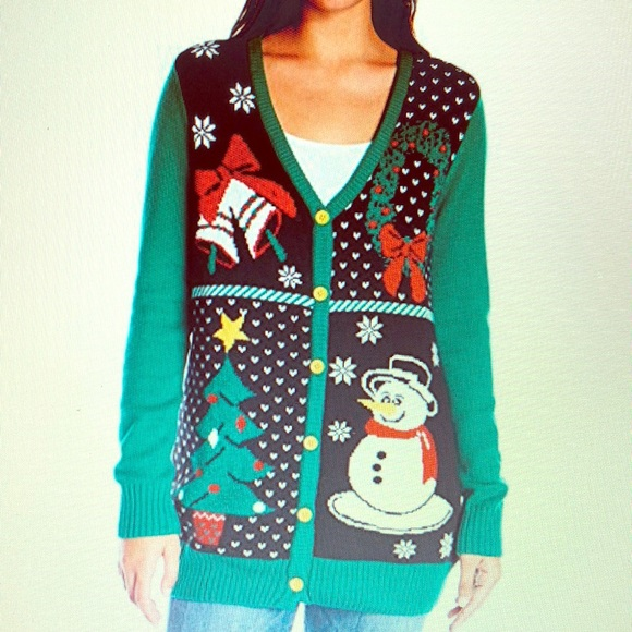 Christmas Ugly Sweater Sweaters Christmas Sweater Womens Button Up